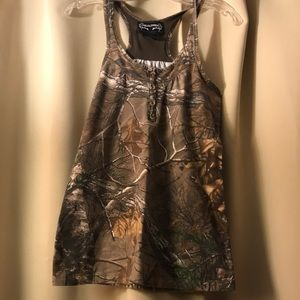 Realtree halter tank top size S